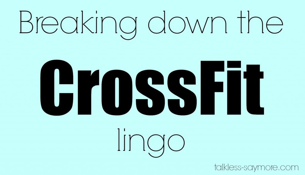 crossfit lingo