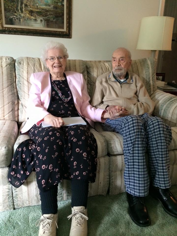 Holding hands at Grandma's birthday
