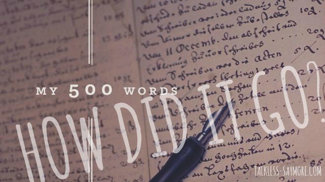 500howdiditgo