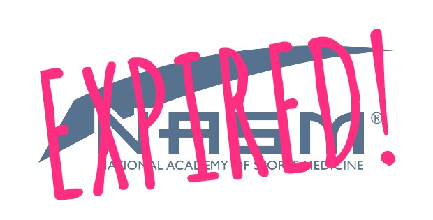 nasm expired