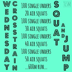 squat and jump
