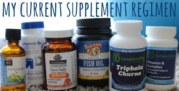 current supplement regimen