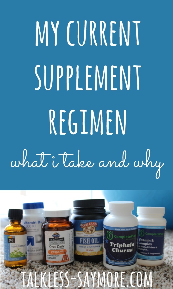 supplement regimen - PIN