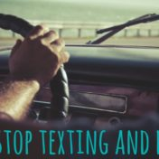 no text and drive FB