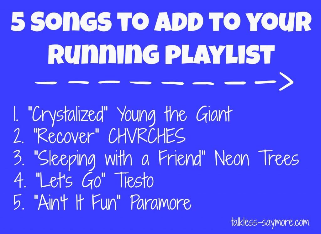 5 new running songs