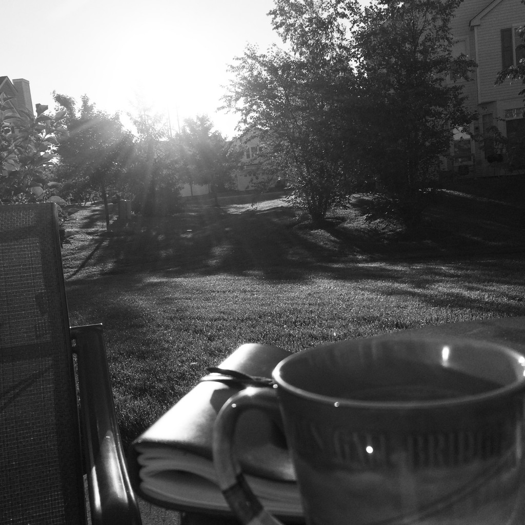 Starting my morning with coffee + writing in my journal = setting my heart up for a beautiful day
