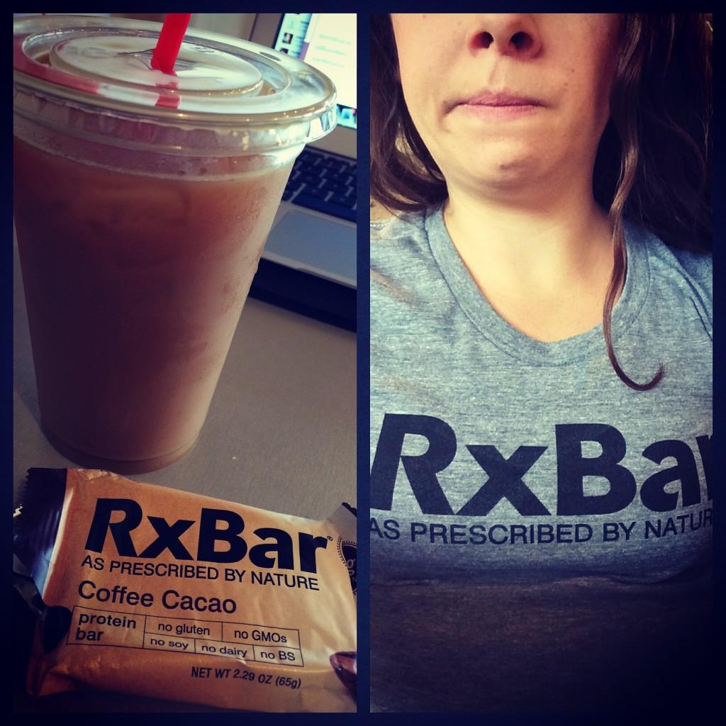 My favorite breakfast - coffee + RxBar + (unpictured) banana