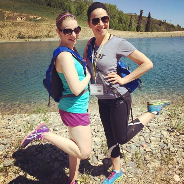 During the hike at last year's Blend with my fav Amanda!