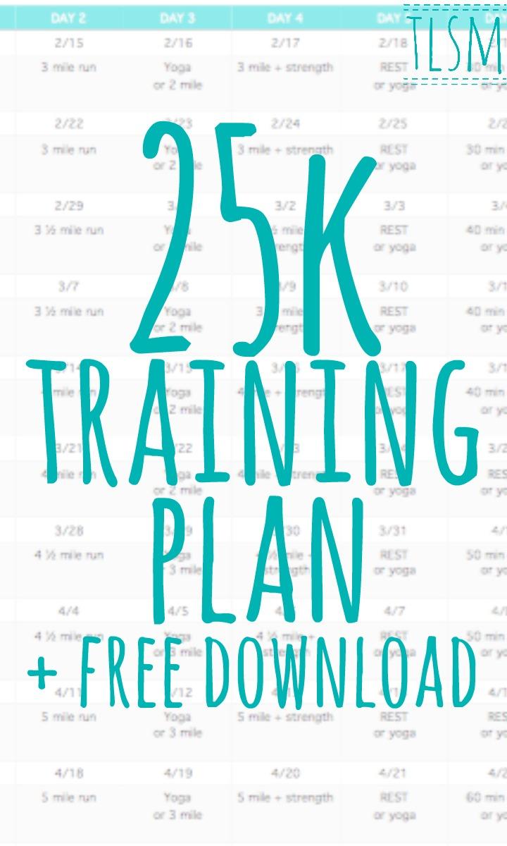 25k training plan download