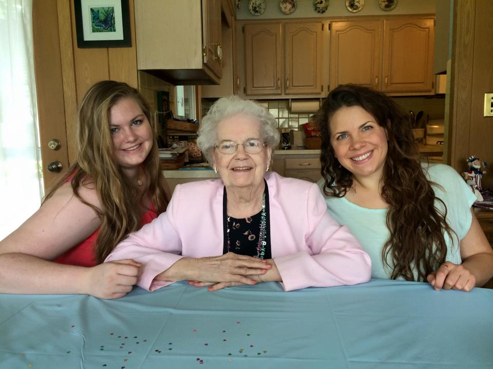 From my grandmother's 90th birthday party last summer with my cousin