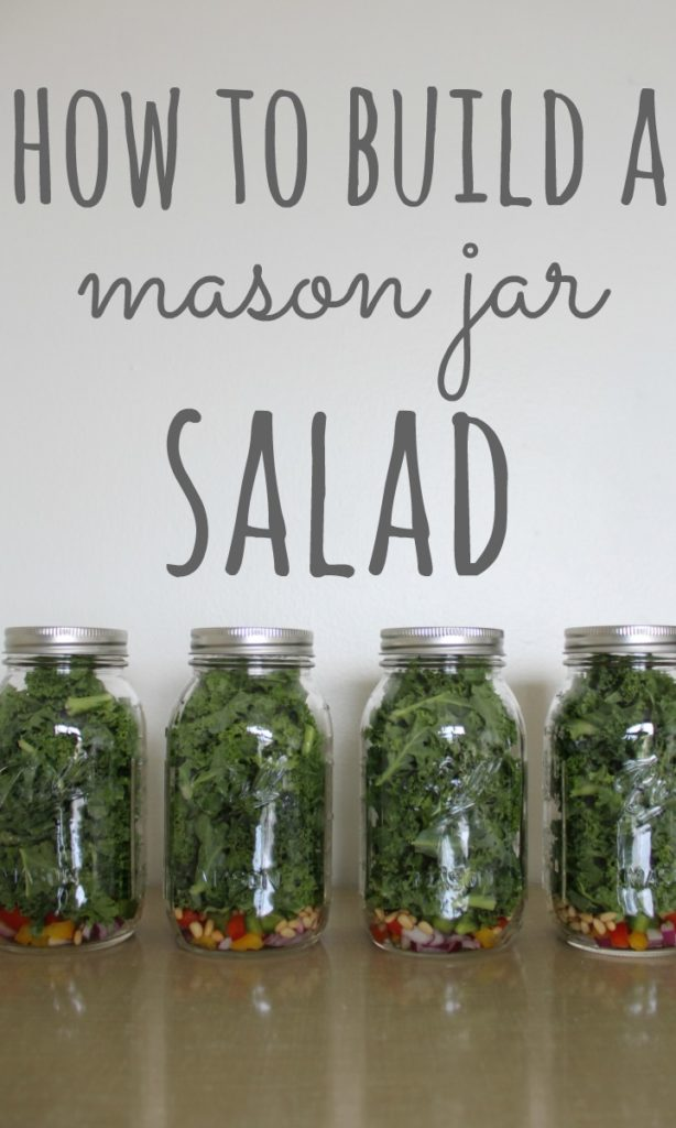 mason jar salad PIN